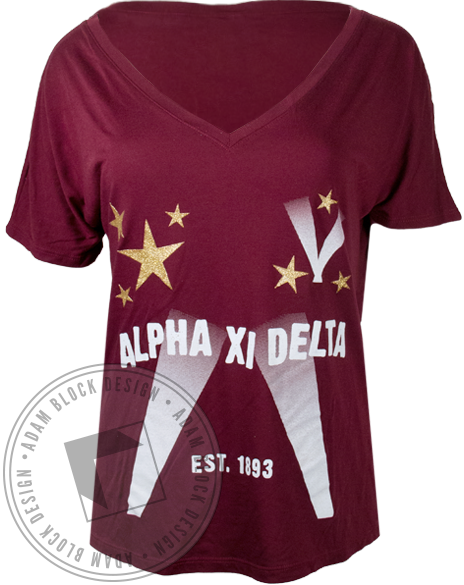 Alpha Xi Delta Joining Our Cast Tshirt-Adam Block Design