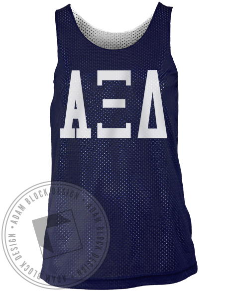 Alpha Xi Delta Letters Athletic Jersey-Adam Block Design