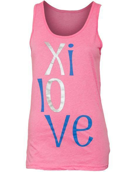 Alpha Xi Delta Love Tank-Adam Block Design