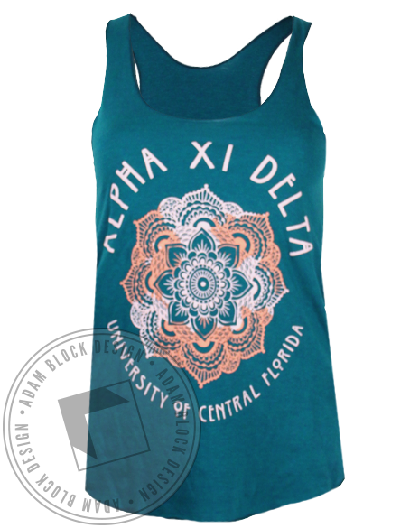 Alpha Xi Delta Mandala Tank Top-gallery-Adam Block Design
