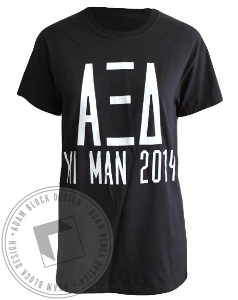 Alpha Xi Delta May The Best Man Win Tee-Adam Block Design