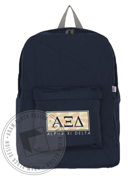 Alpha Xi Delta Quill Backpack-Adam Block Design