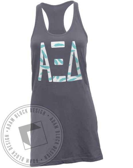 Alpha Xi Delta Quill Pattern Tank Dress-Adam Block Design