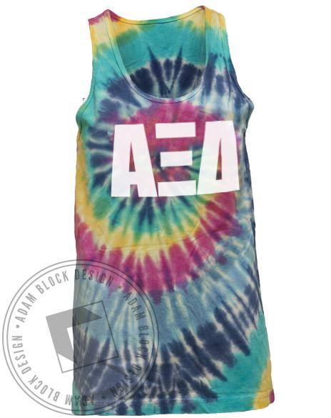Alpha Xi Delta Recruitment Tie Dye Tank-Adam Block Design