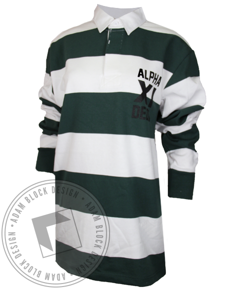 Alpha Xi Delta Rugby Long Sleeve Shirt-Adam Block Design