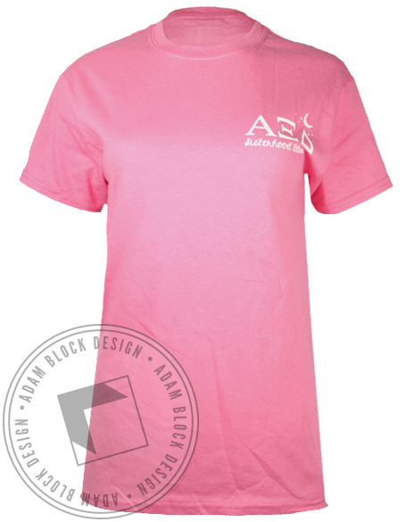 Alpha Xi Delta Sisterhood Retreat Tshirt-Adam Block Design