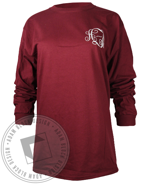 Alpha Xi Delta Sisterhood Wreath Longsleeve Shirt-gallery-Adam Block Design