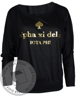 Alpha Xi Delta Spade Long Sleeve-Adam Block Design