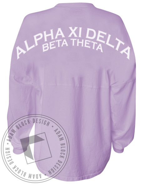 Alpha Xi Delta Spirit Jersey Shirt-Adam Block Design