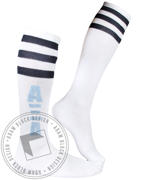 Alpha Xi Delta Striped Socks-Adam Block Design
