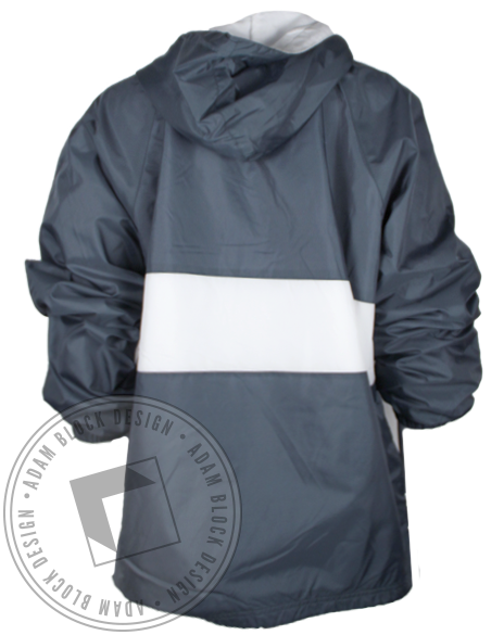 Alpha Xi Delta Striped Windbreaker Half Zip Jacket-gallery-Adam Block Design