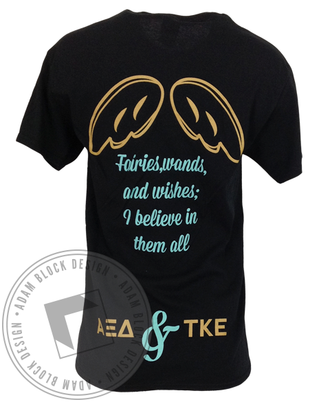 Alpha Xi Delta & Tau Kappa Epsilon Greek Week Tee-Adam Block Design