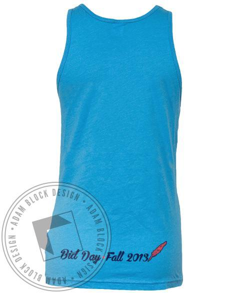 Alpha Xi Delta Tribal Letter Bid Day Tank-Adam Block Design