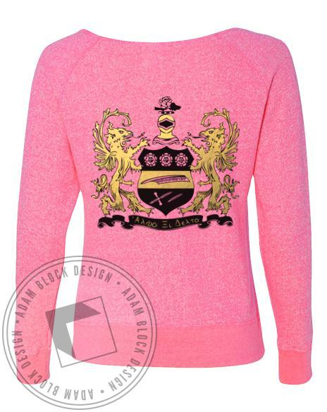 Alpha Xi Delta Us Against The World Pullover-Adam Block Design