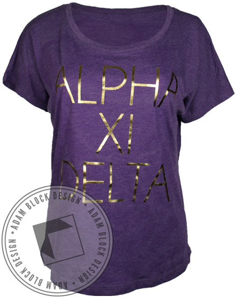 Alpha Xi Delta Willy Wonka Tee-Adam Block Design