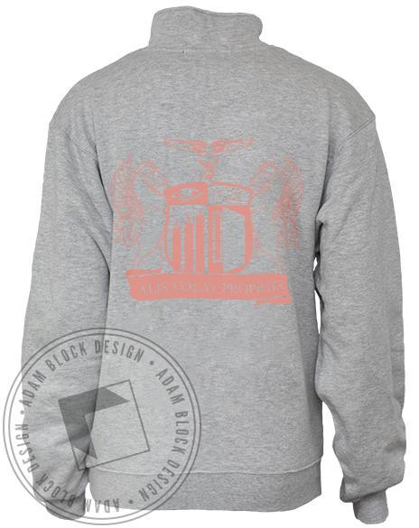 Alpha Xi Omicron Crest Half-Zip-gallery-Adam Block Design