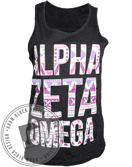 Alpha Zeta Omega Tribal Tank-Adam Block Design