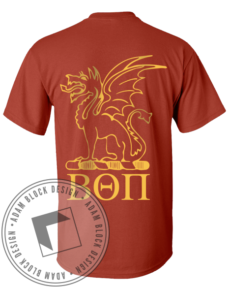 Beta Theta Pi Dragons Tshirt-Adam Block Design