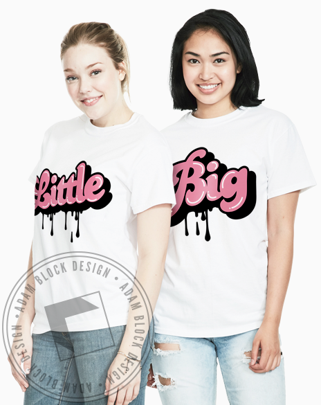Big Little Drip Tees-gallery-Adam Block Design