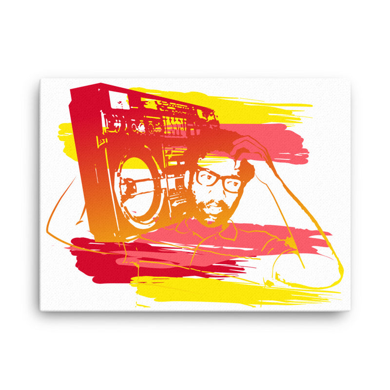 Ghetto Blaster Canvas Wall Art