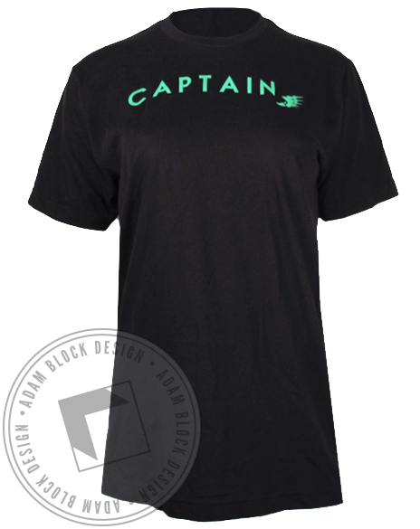 Captain Thunderbolt Tshirt-Adam Block Design