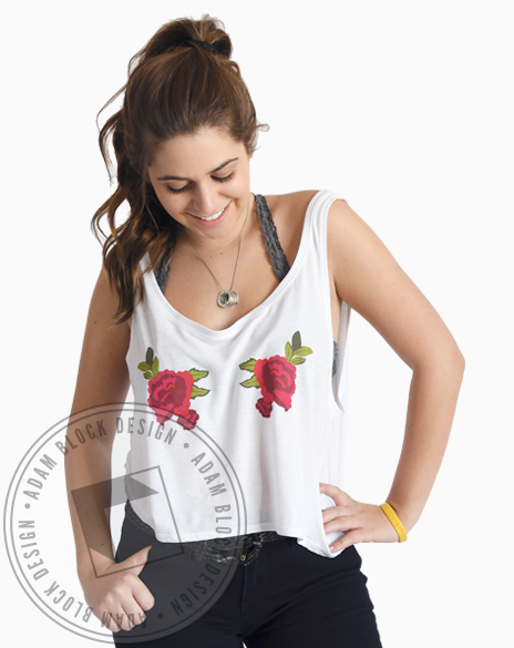 Carnation Cropped Tank-Adam Block Design