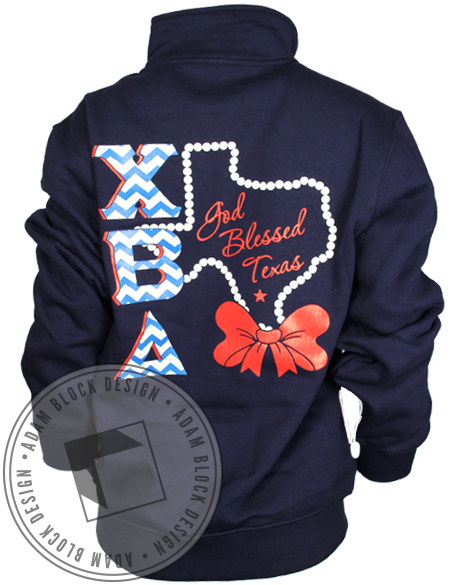 Chi Beta Delta State Halfzip-Adam Block Design