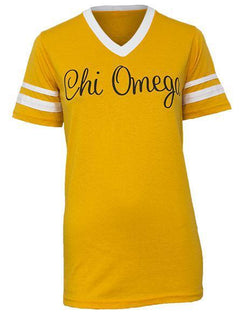 Chi Omega 12 Athletic Jersey-gallery-Adam Block Design
