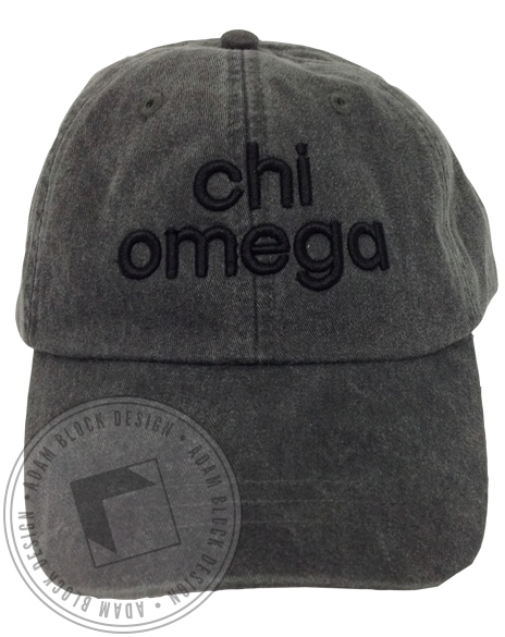 Chi Omega 3D Embroidered Hat-gallery-Adam Block Design
