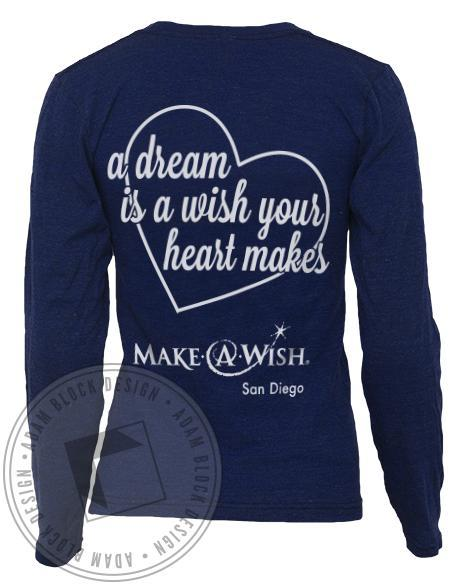 Chi Omega A Dream Is A Wish Long Sleeve-Adam Block Design
