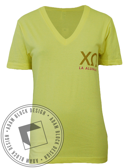 Chi Omega Alumnae V-Neck-gallery-Adam Block Design