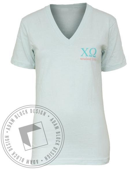 Chi Omega Anchor Your Heart V-neck-gallery-Adam Block Design
