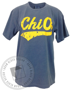 Chi Omega Athletic Tee-Adam Block Design