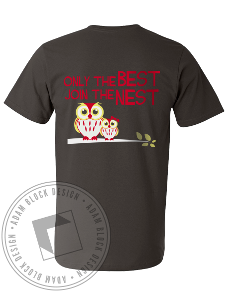 Chi Omega Best Nest Bid Day V-Neck-gallery-Adam Block Design