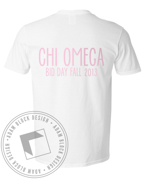 Chi Omega Bid Day Hands V-Neck-gallery-Adam Block Design