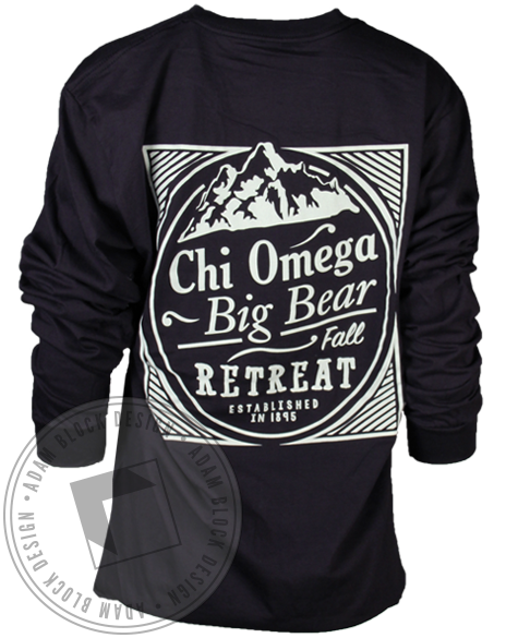 Chi Omega Big Bear Retreat Long Sleeve-gallery-Adam Block Design