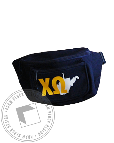 Chi Omega Blue Fanny Pack-gallery-Adam Block Design