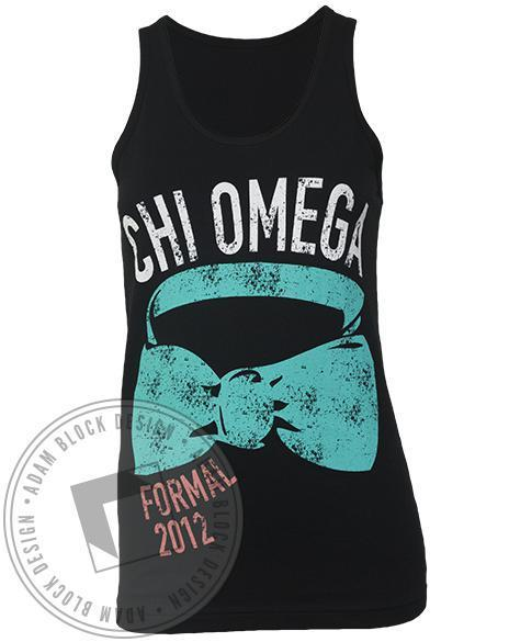 Chi Omega Bow Tie Formal Tank-Adam Block Design
