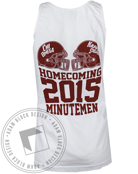 Chi Omega Can't Lose Homecoming Tank Top-Adam Block Design