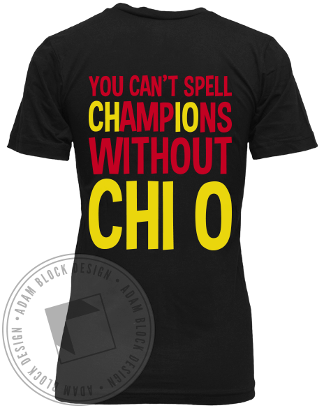 Chi Omega Champions V-neck-gallery-Adam Block Design