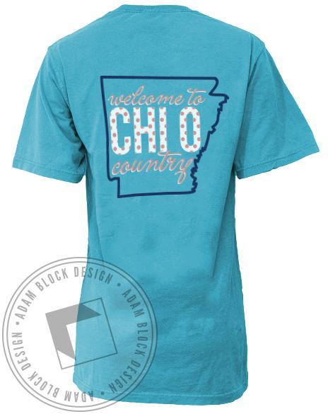 Chi Omega Chi O Country Pocket Tee-gallery-Adam Block Design
