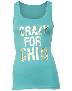 Chi Omega Crazy For Chi O Tank-Adam Block Design