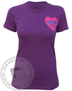 Chi Omega Crush Heart Tee-Adam Block Design