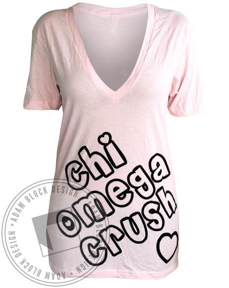 Chi Omega Crush V-Neck-Adam Block Design