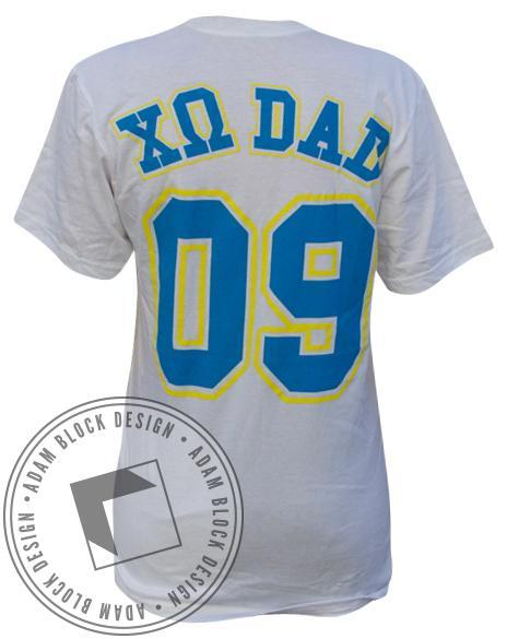 Chi Omega Dad's Day Jersey Tee-gallery-Adam Block Design