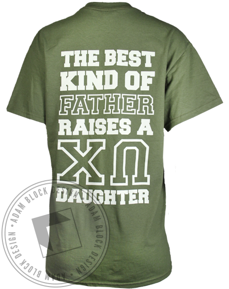 Chi Omega Dad's Day T-shirt-Adam Block Design