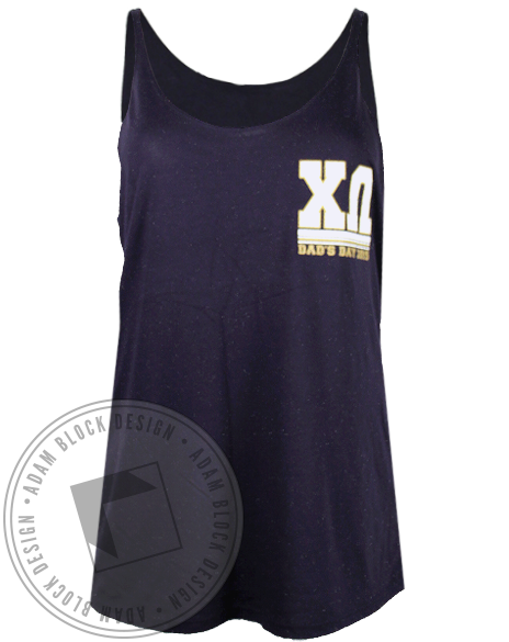 Chi Omega Dad's Day Tank-Adam Block Design