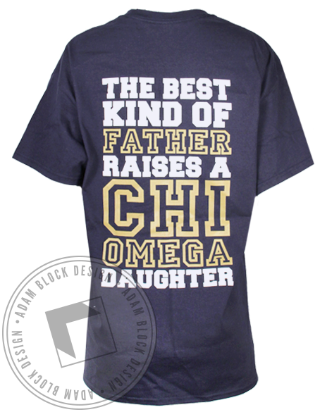 Chi Omega Dad's Day Tee-Adam Block Design