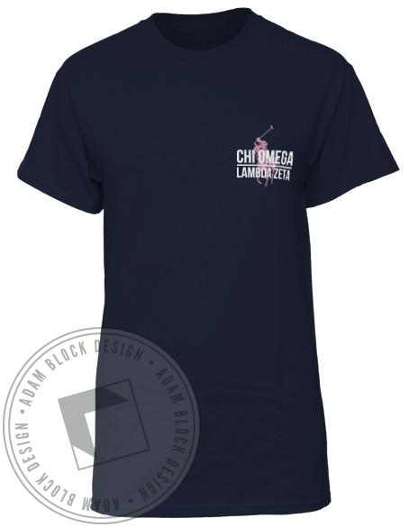 Chi Omega Dad's Weekend T-shirt-Adam Block Design