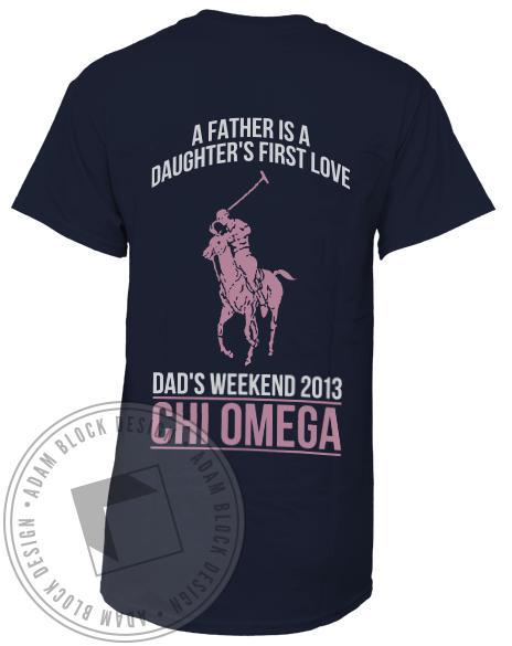 Chi Omega Dad's Weekend T-shirt-gallery-Adam Block Design